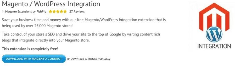 Wordpress Integration Magento
